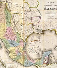 1847 Map Of Mexico And Texas