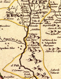 map of New Spain, 1768