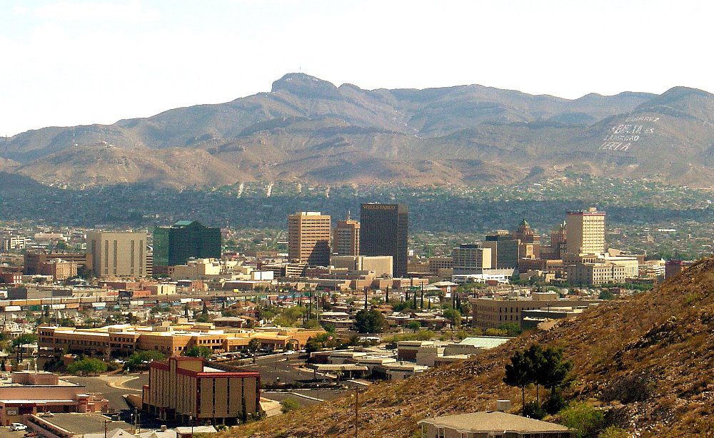 here we are in el paso this city is muy grande that means big with ...