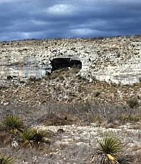 A rockshelter in southwest Texas.