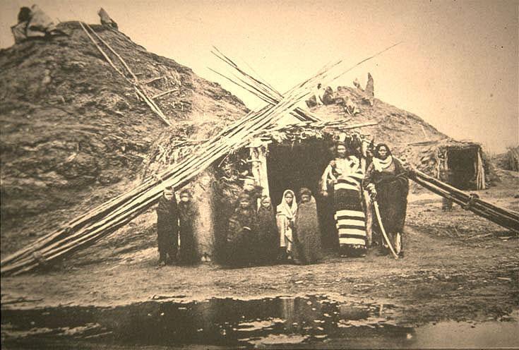 Pawnee village, ca. 1875.pawnee village