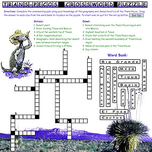 Trans-Pecos Crossword