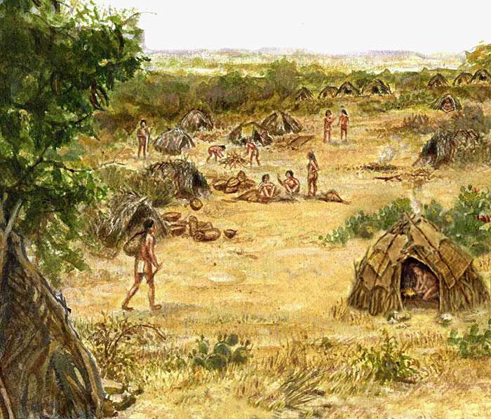Cabeza de vaca with indians