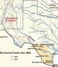 Fort Clark Battles For The Nueces Strip - Us army strip map