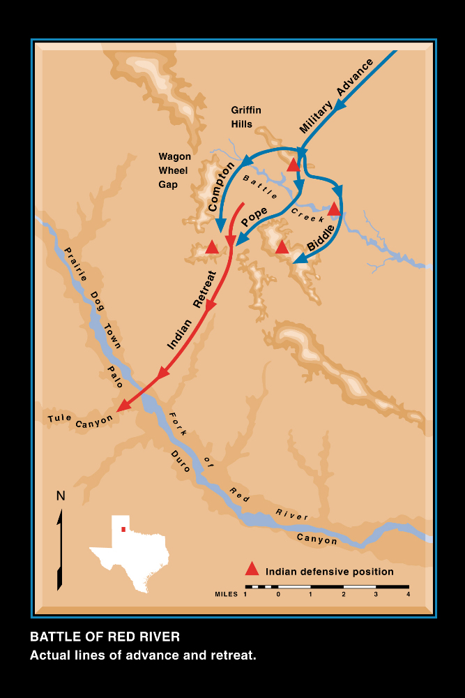 Red River War - Red river map us