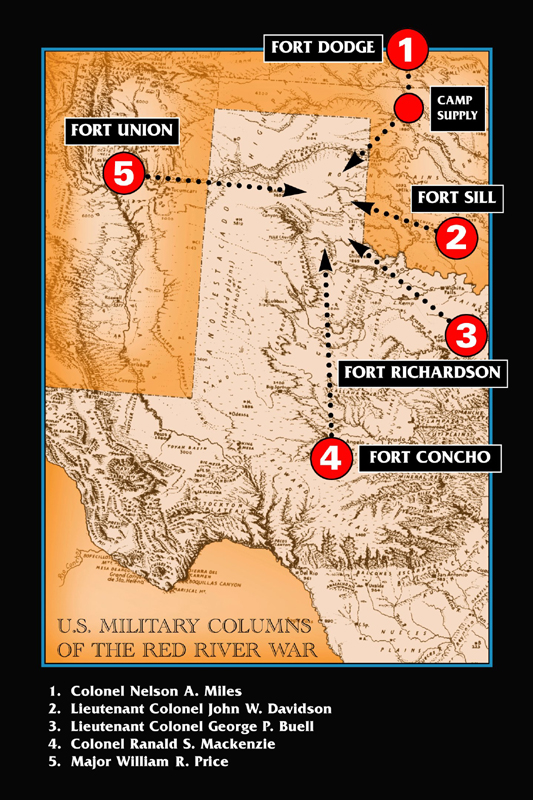 Red River War - The red river map us