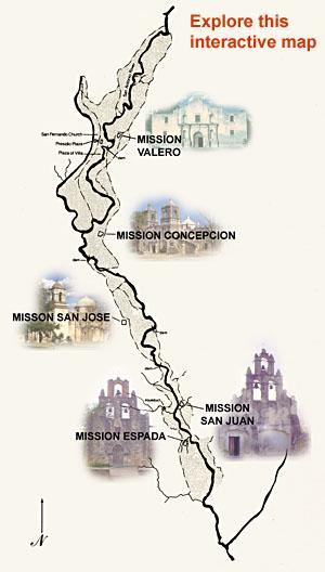 San Antonio Missions Map San Antonio Missions San Antonio Missions Map