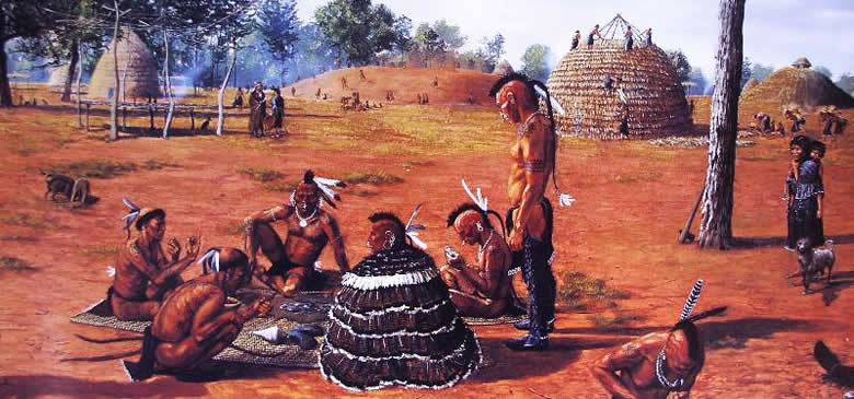 What did the Caddo Indians eat?