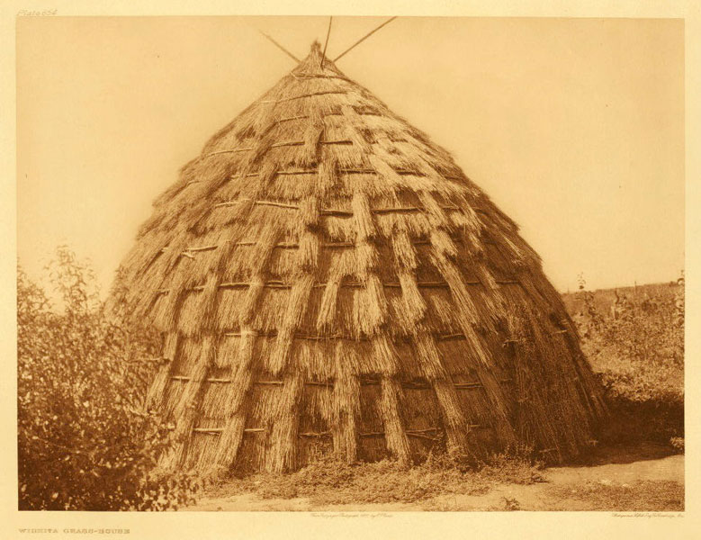 Wichita Grass House Ca 1927 Photograph By Edward S Curtis The North American Indian Volume 19