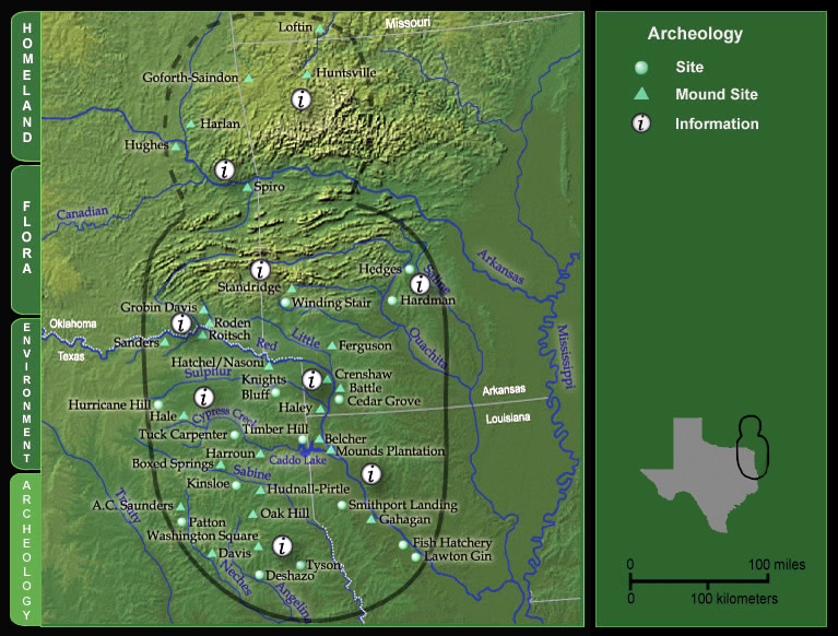 The Caddo Map Tool Archaeological Sites